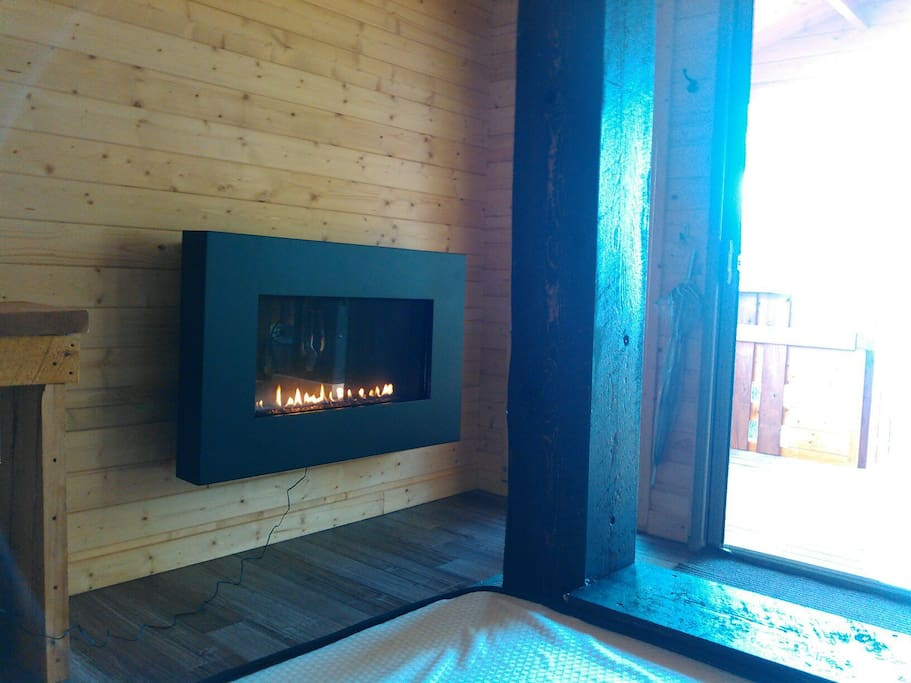 Cozy up to your propane fireplace.