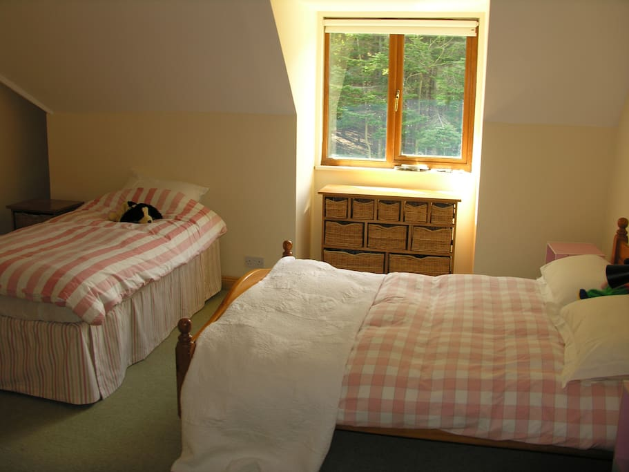 Quiet,spacious double/twin room.
