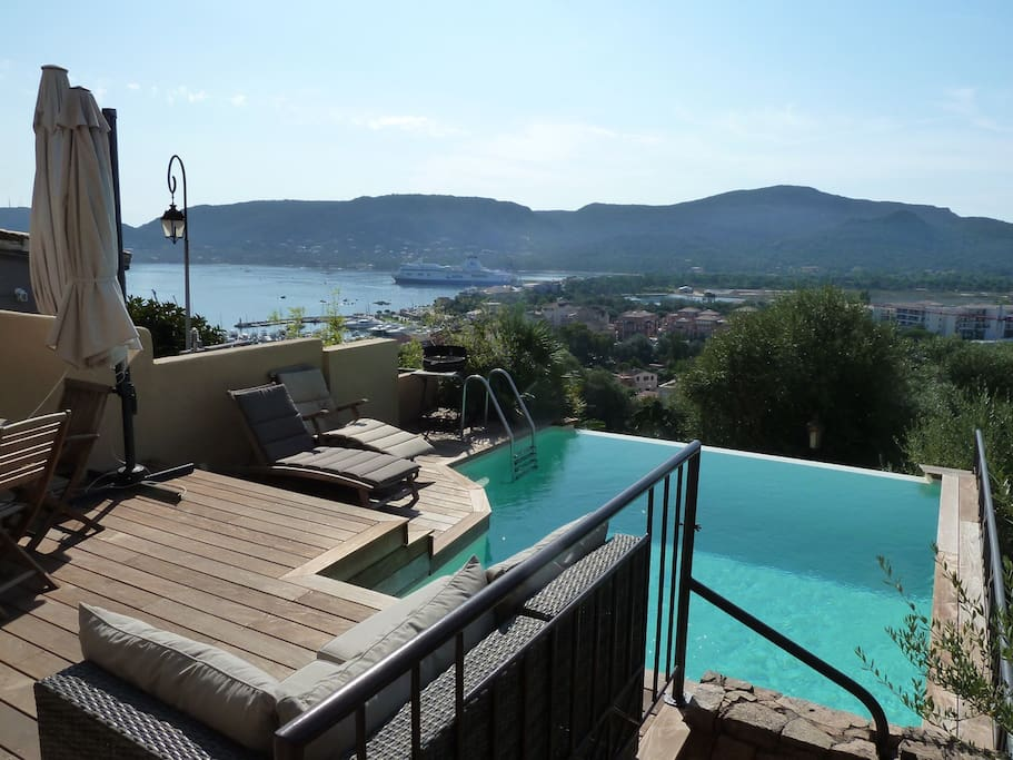 triplex vue mer piscine pk priv s houses for rent in porto vecchio corse france. Black Bedroom Furniture Sets. Home Design Ideas