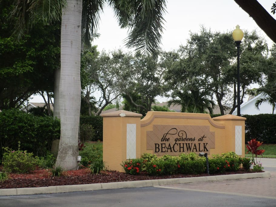 Gardens at Beachwalk is a gated community (access only with gate code and key card)