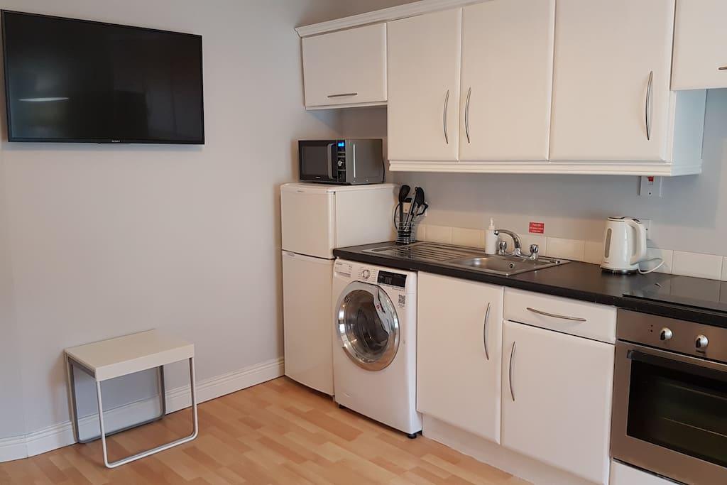 Apt 3 Kitchen/ Living