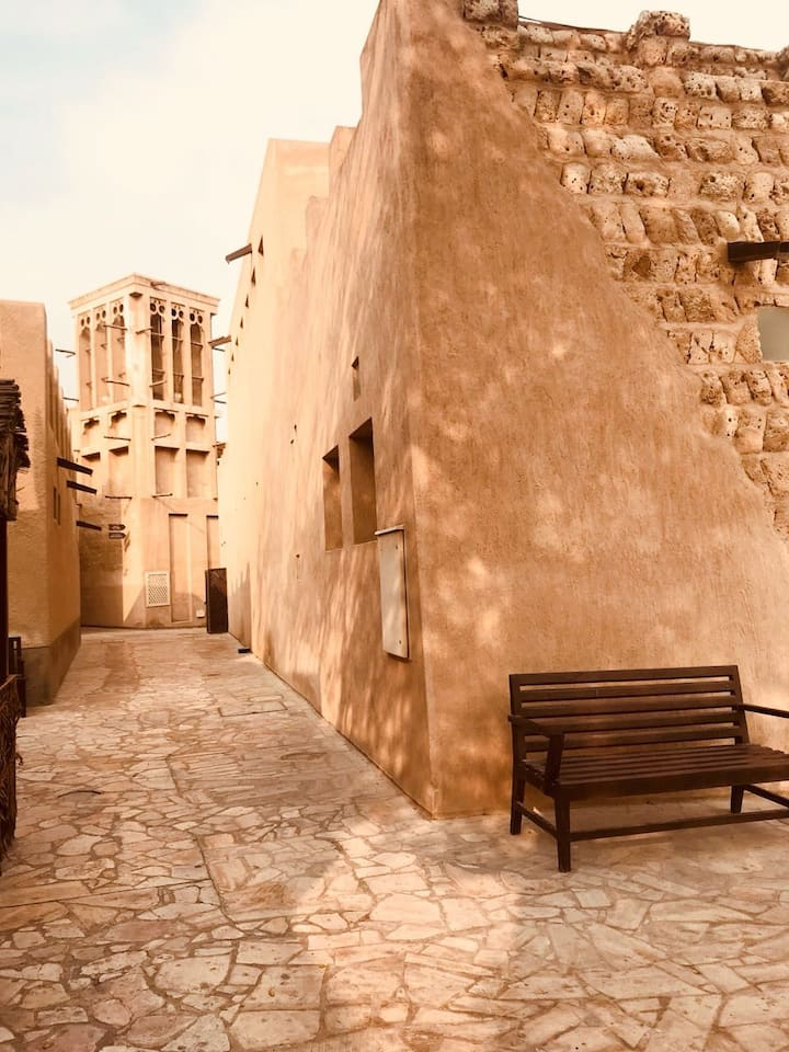 Al bastakia/al fahidi neighbourhood & heritagehouses