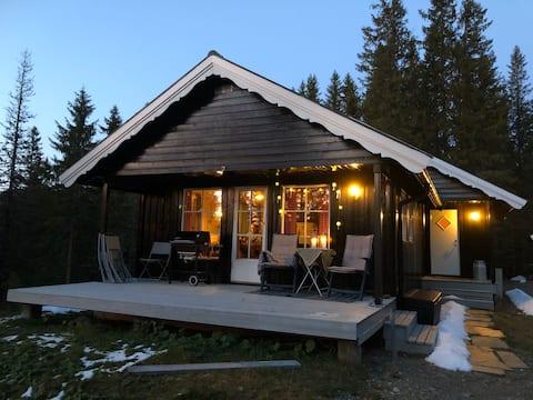 Gemütliches und gemütliches Ferienhaus auf Teveltunet