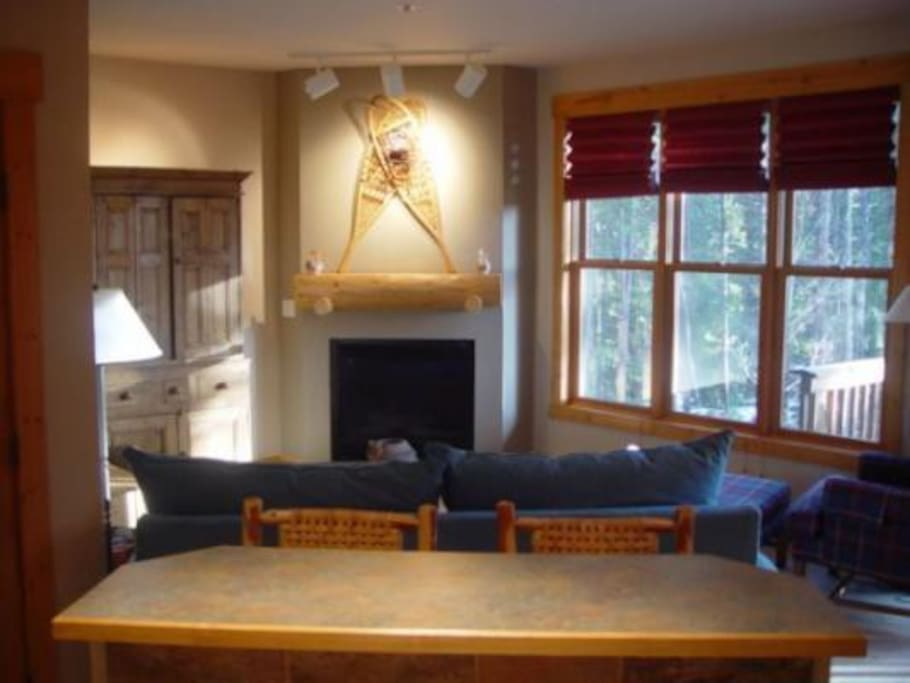 Fireplace! - Nice romantic/cozy area with great woods views.