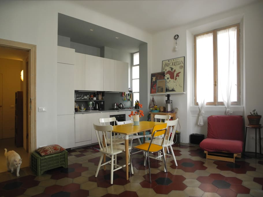 living room - the kitchen