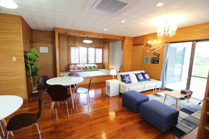 Kaichu-doro&Katsuren-castle 22min/3BR/Free Parking - Uruma-shi - Appartement