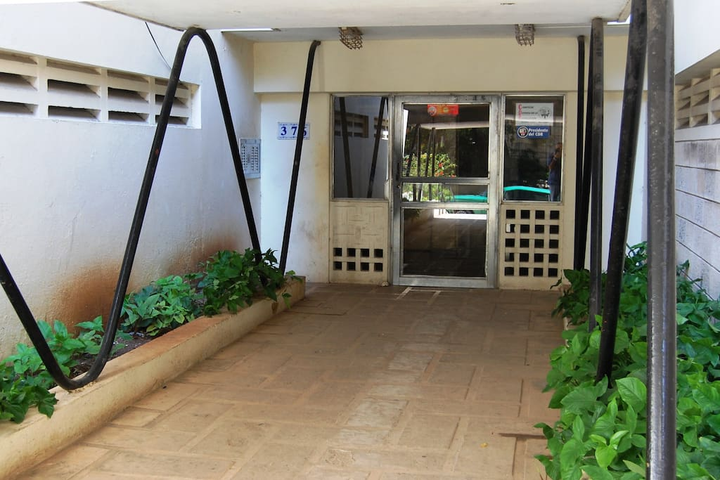 Entrance of the building. The apartment is on the 7th floor