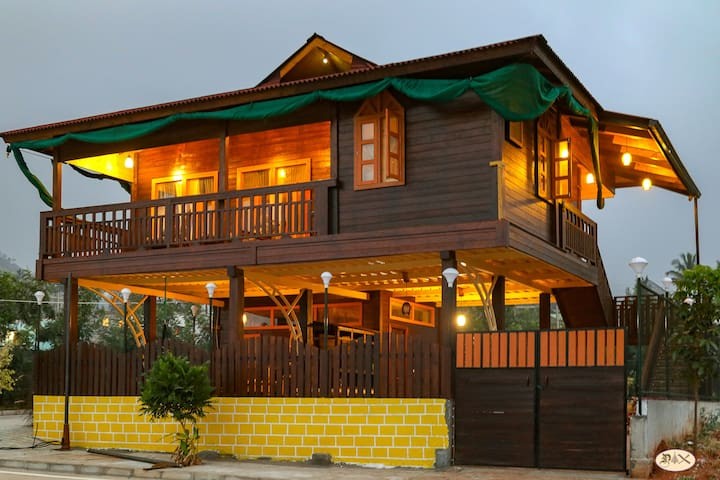 Wooden Cottage Villa - Near Bangalore