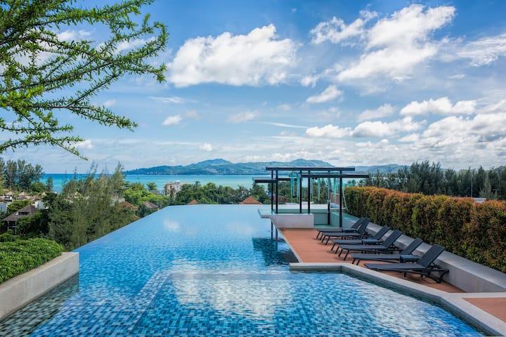 Seaview Delightful Apartment @Surin, 650m - beach