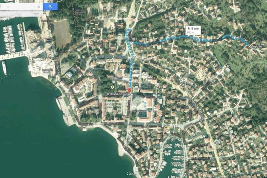 Map of Tivat