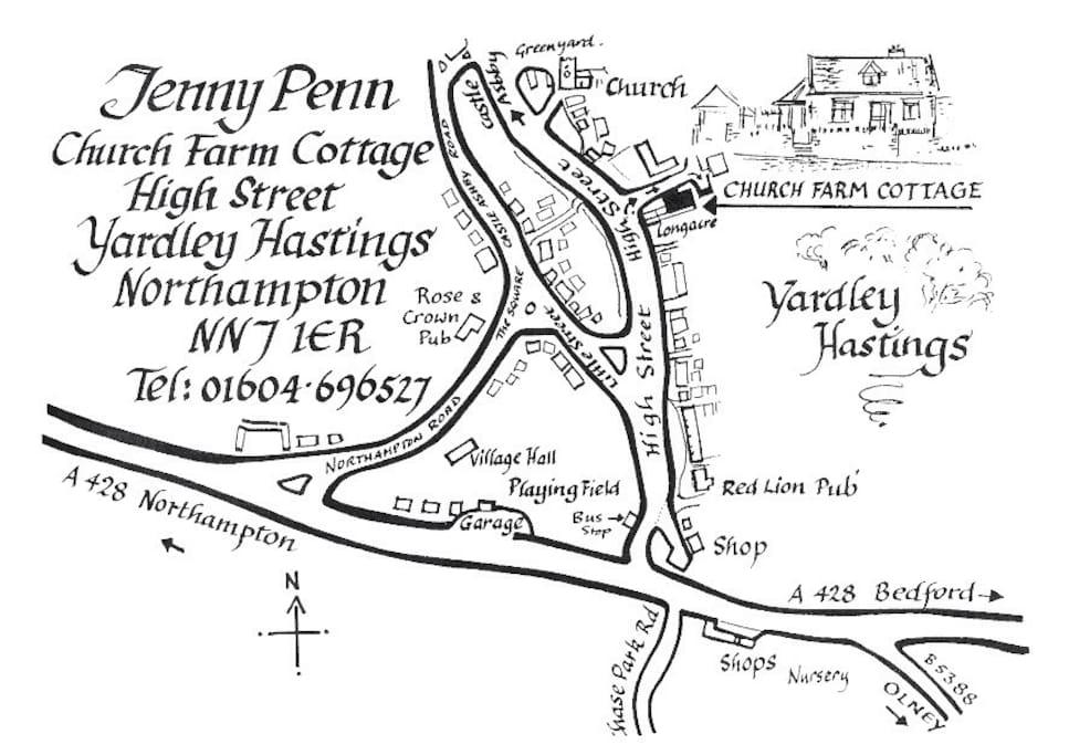 Map of Yardley Hastings