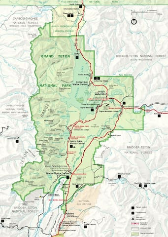 In your room you will find hiking guide books on Grand Teton and Yellowstone National Parks.  Let us know if you'd like to use one of our hiking maps for the day.