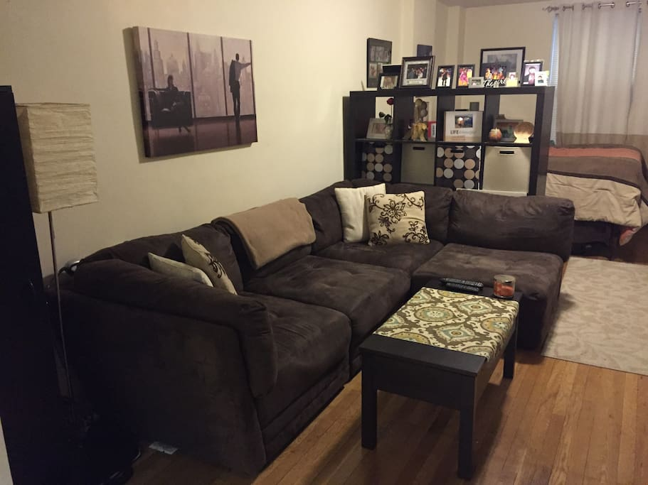 Large comfy microfiber couch