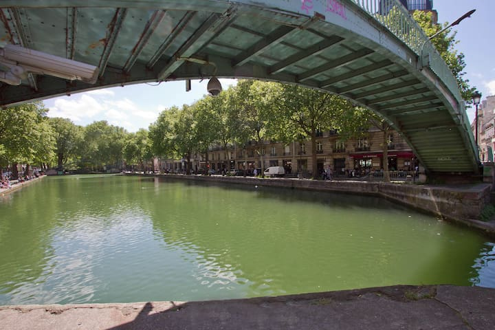 50m/160ft from Canal Saint-Martin