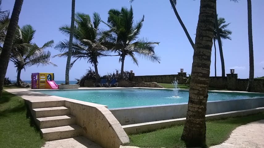 2 lge bedrooms in shared OCEAN FRONT apartment - Cabarete - Apartment
