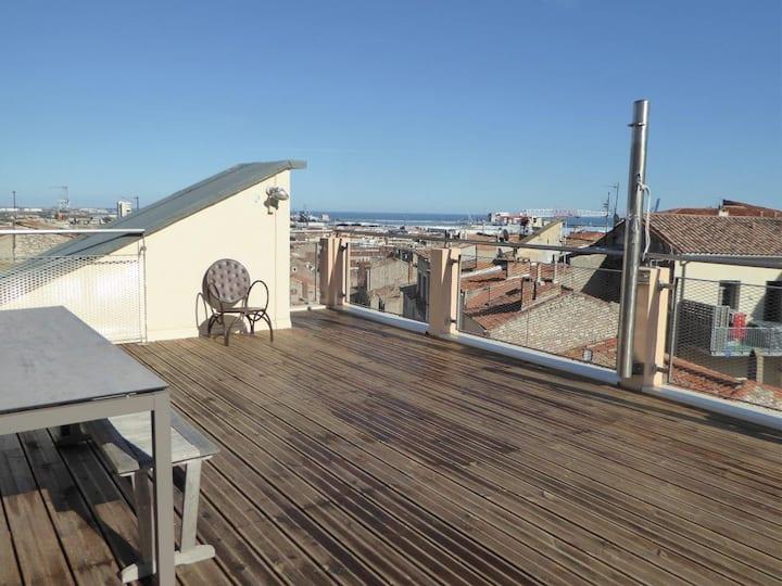 Appartement atypique, vue exceptionnelle à 360°