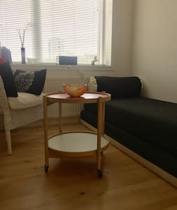 Close to airport, beach, citycenter, shops, cafees