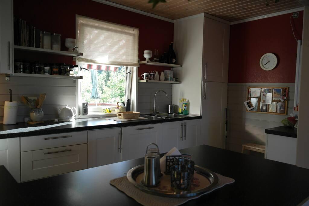 Kjøkken med alle fasiliteter.
