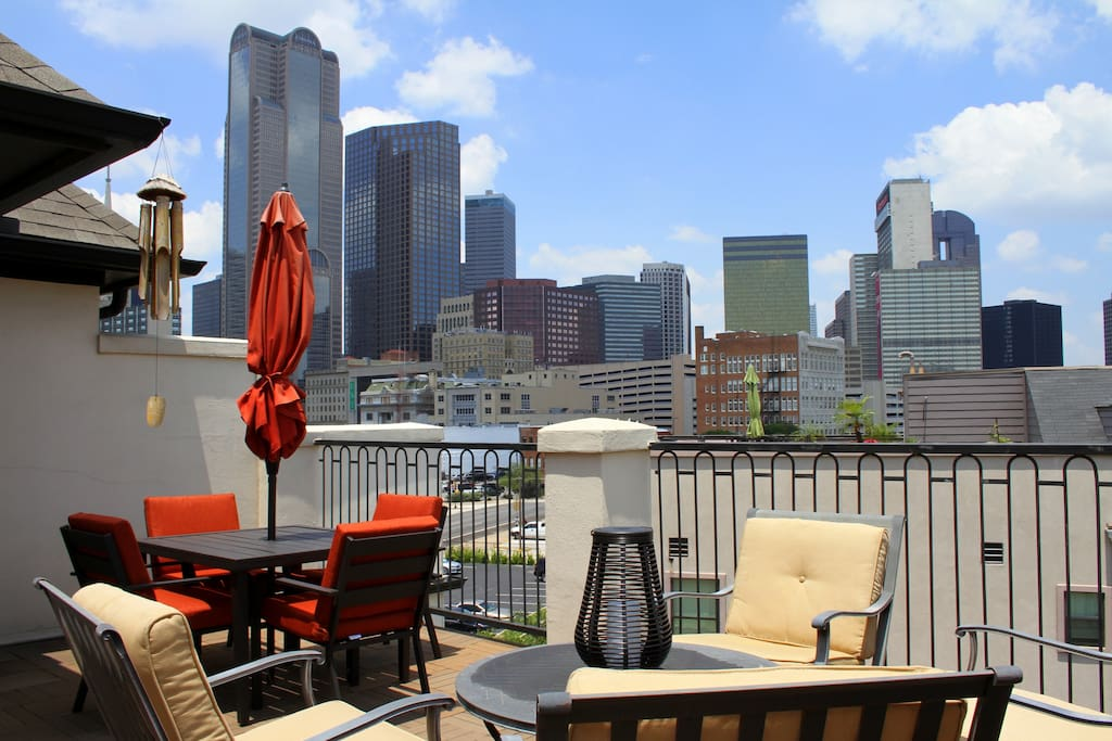Rooftop Deck - view from your chair