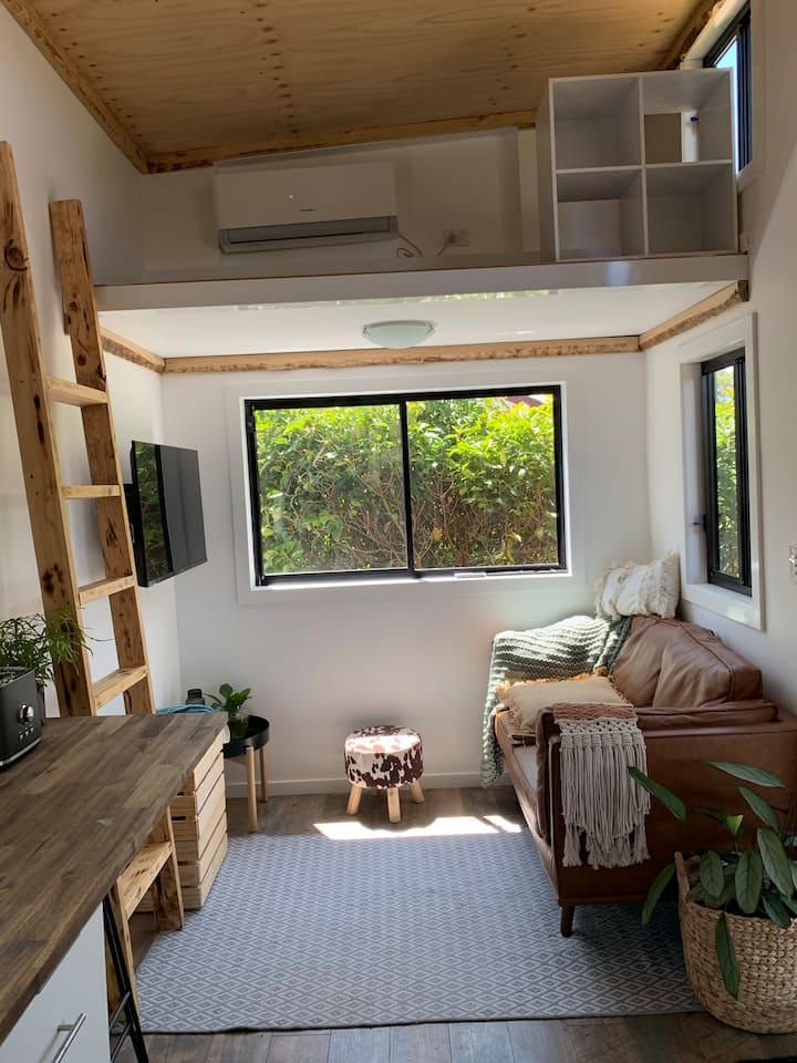 Tiny House with Parkland Outlook