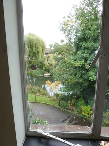 View from Bedroom window of the River Mole