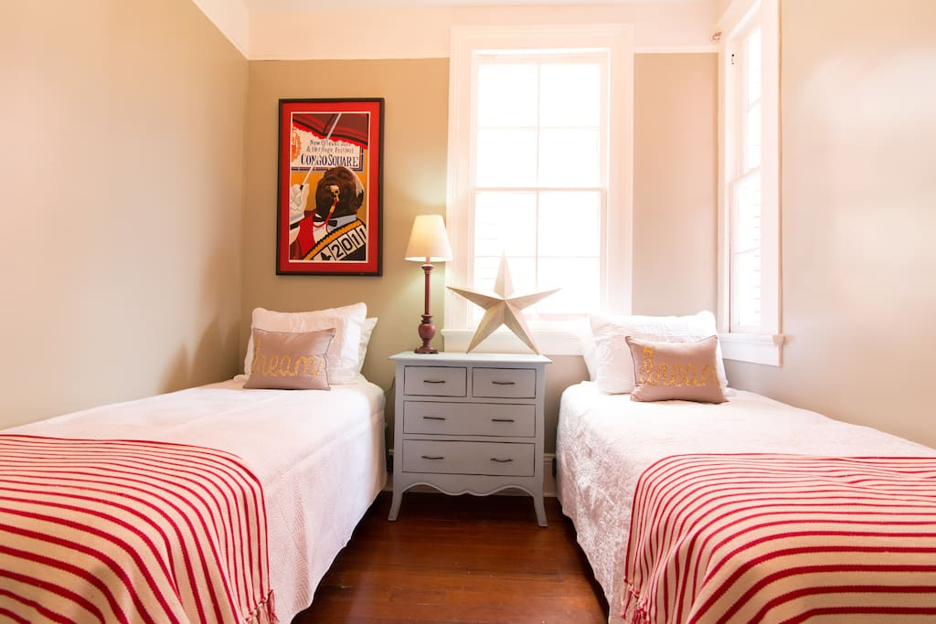 Bedroom #2 has two twin beds with plush top mattresses.