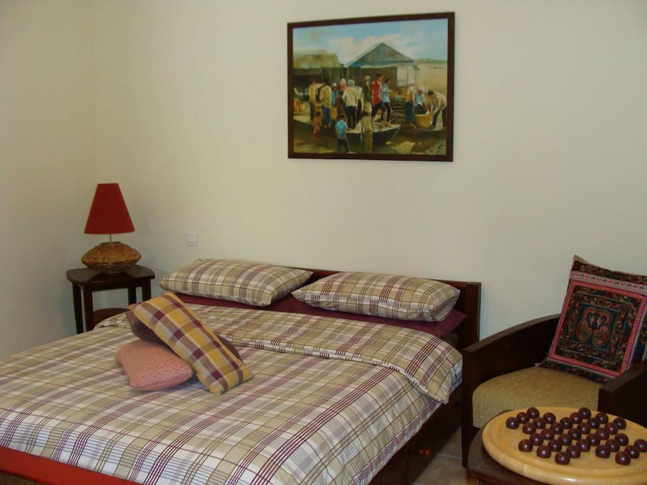 Double bedroom with king size bed and ensuite bathroom