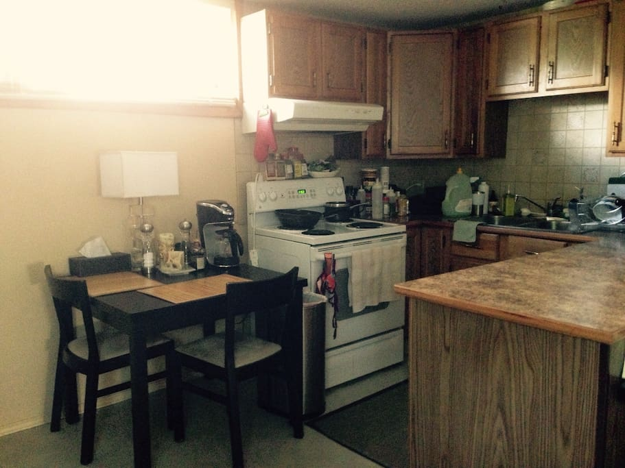 The kitchen (fully equipped with anything you may need