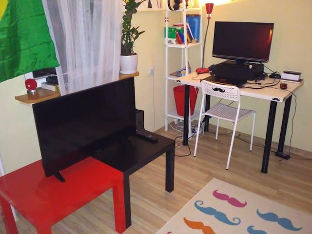 Smart TV and desk