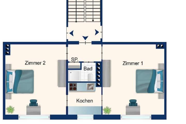 Kiel Jachmannstrasse 3. OG mitte 2 Zi. Wohnung