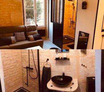 Studio noir, pierre et or proche gare-centre Niort
