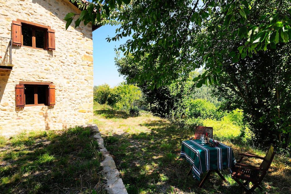 House, Porch and Garden