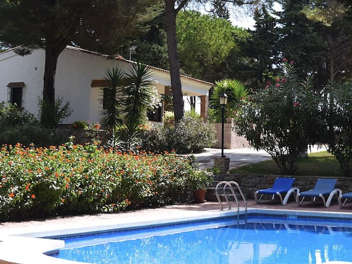 Holiday villa on large estate with pine trees. Private pool.