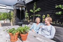 My wife Margret and myself are spending most of our time at home on the terrace. At least during spring and  summer. If it gets really hot we even sleep up here.
