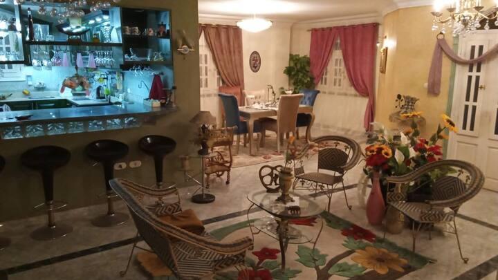 Full fully furnished cozy apartment in El Yasmeen