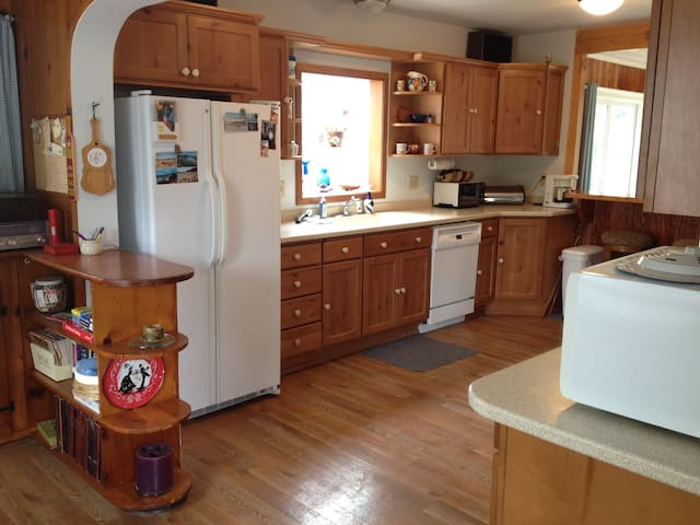 Our kitchen is large and fully appointed.
