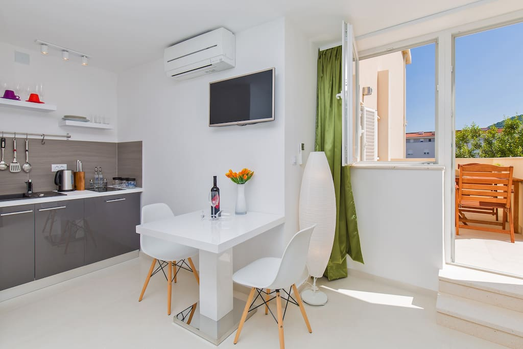 Studio Apartment is a great place for 2 person to enjoy their stay in Dubrovnik; modern, new and comfortable studio apartment