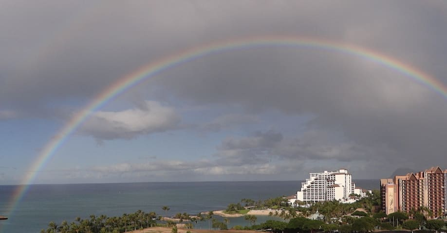 Picture of rainbow from our front lanai.