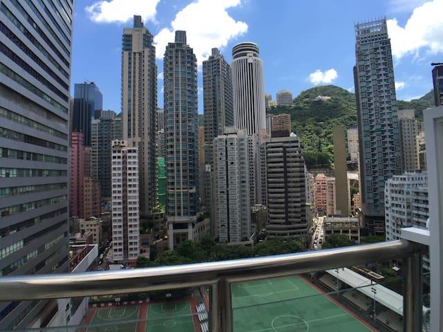 Wanchai Cozy Apartment/Fantastic View/Terrace/MTR
