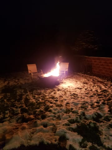 Private use of the fire pit.