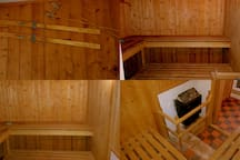 interior of sauna