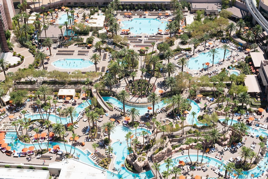 Enjoy the use of all  MGM Resort Pools, including Lazy River and  secluded owners pools only for Signature guest.