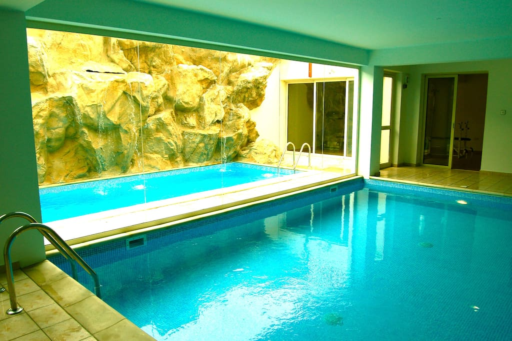 Indoor heated swimming-pool