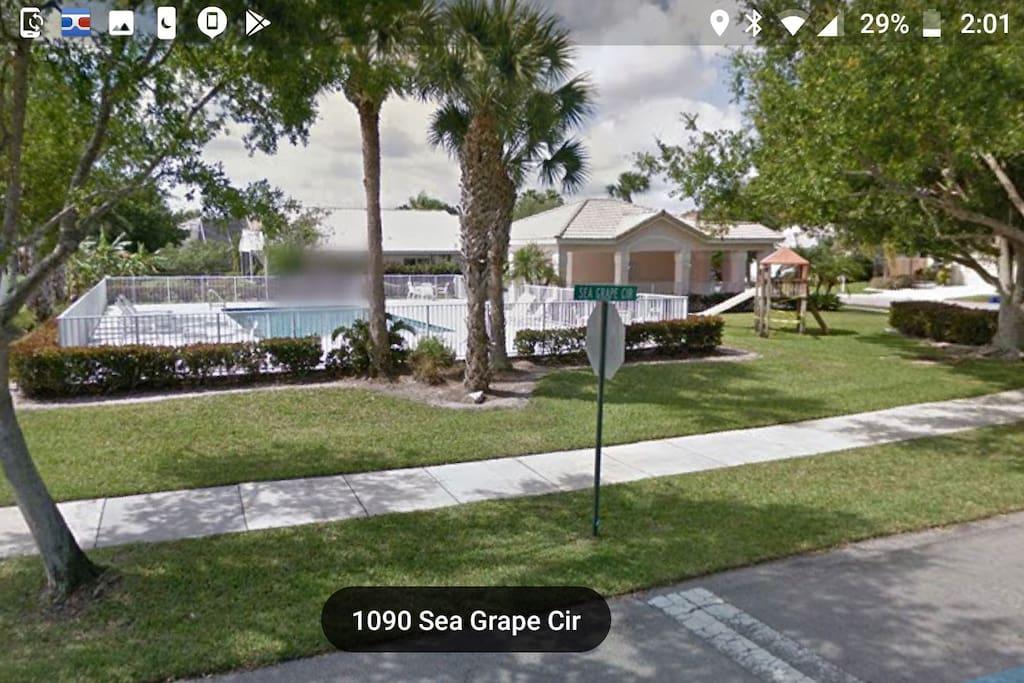 community pool next door