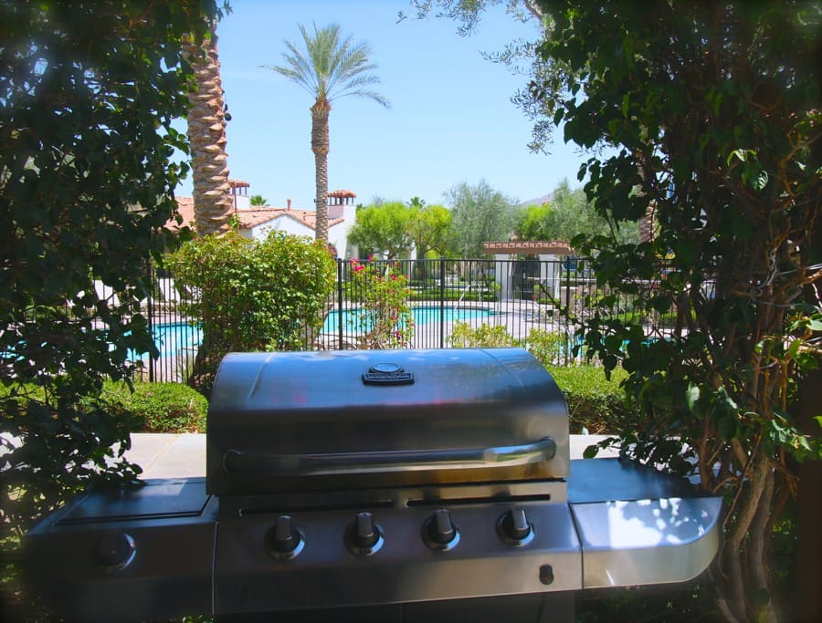 Get your private BBQ on by the pool!