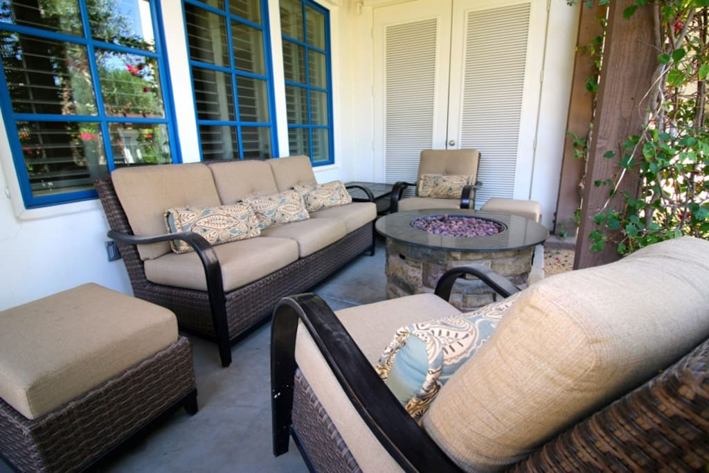 Chill and relax on your private patio.