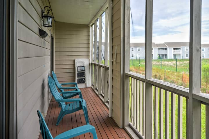Surfside Beach Family Condo w/ Porch & Lake Views!