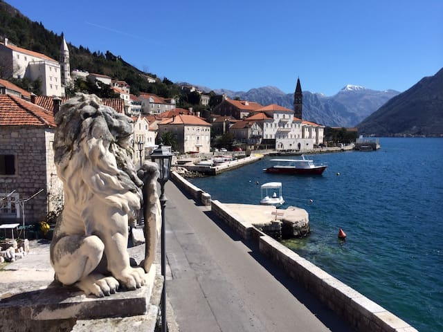 Idyllic waterfront apartment - Perast - Huoneisto