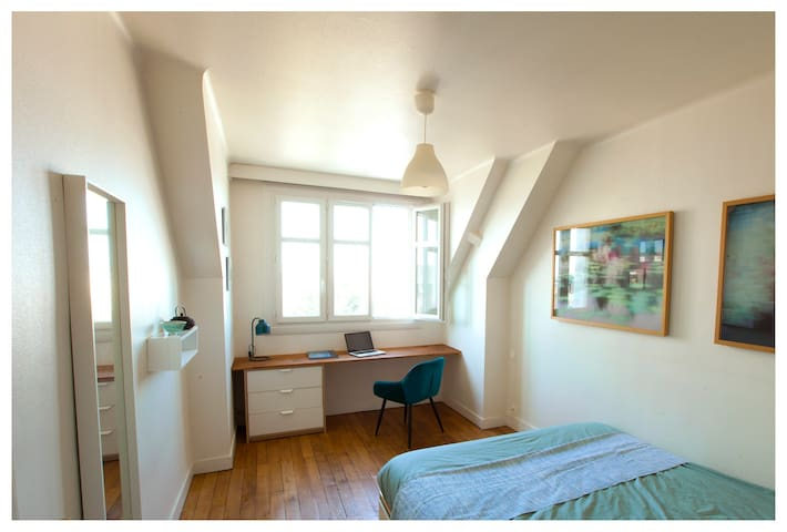 Luminous flat, arty design- 5mn from city center