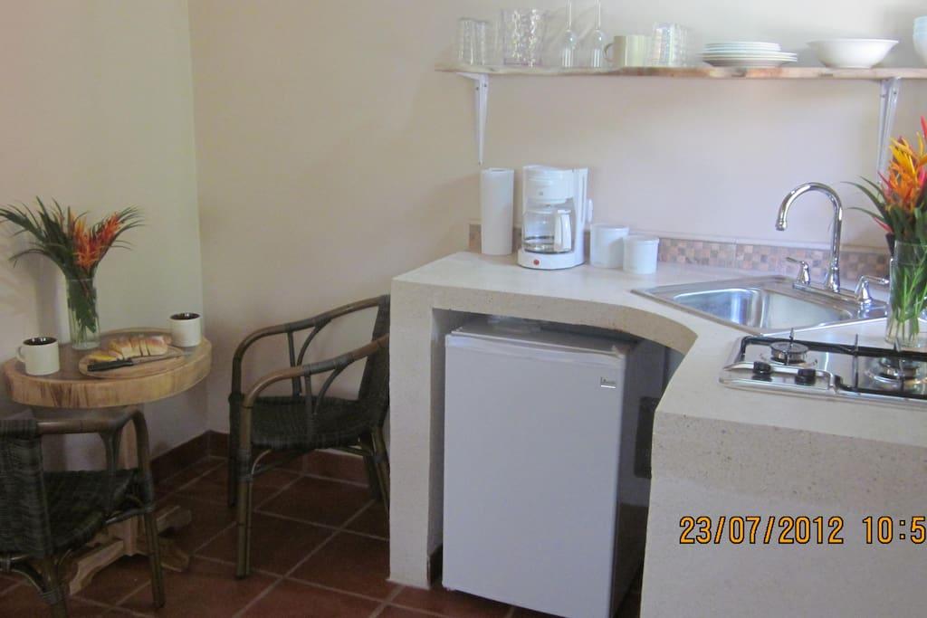 Kitchenette, Bungalows Guayacan, Manzanillo Beach, Manzanillo